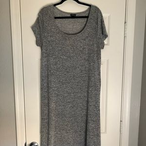 Sweater like gray maxi shirt